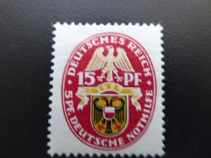1929 Germany Deutsches Reich Semi-Postal  Sc.B30