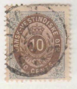 U.S. Danish West Indies #10 Stamp - Used Single