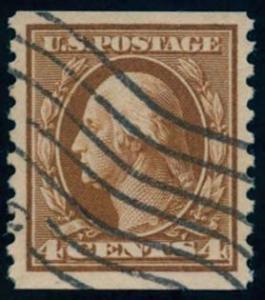 US Scott #446 Used, VF/XF, PSE (Graded 85)