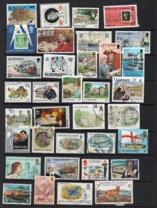 Guernsey small used selection of over 6 stamps