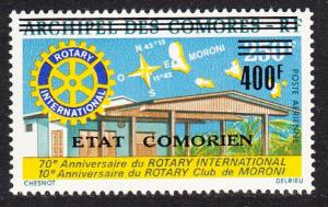Comoro Is. Overprint 'Etat Comorien' 400 Fr on 250 Fr MI#247 SC#C94