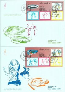 84827 - SOMALIA - Postal History - Set of 2 FDC COVERS World Football Cup  2002