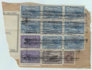 8X$1.00 DESTROYER + 2X50c+20c+2c War Issue PARCEL SPECIAL DELIVERY AIR MAIL $$$$