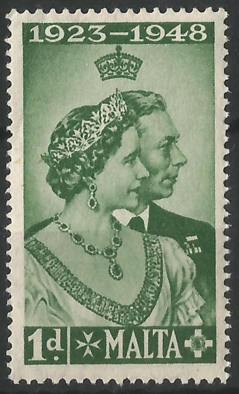 Malta 1948 George VI Royal Silver Wedding Stamp Unmounted Mint