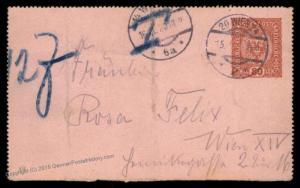Austria 1920 Rohrpost Pneumatic Cover Kartenbrief FRONT 90184