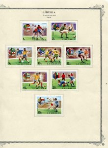 Liberia 1974 World Cup Soccer Championship Perf+Imperf on Pairs MH/MNH 6172