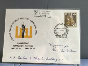 Lithuania 1991 stamps cover R29366