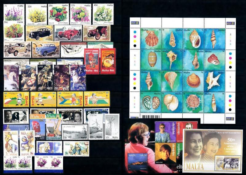 [51444] Malta 2003 Complete Year Set with Miniature sheets MNH