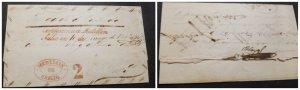 O) 1843 COLOMBIA, PREHILATELIC, MEDELLIN DE OFICIO CANCELLATION IN RED, CERTIFIC