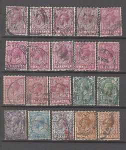 COLLECTION LOT # 3056 GB 20 STAMPS 1912+ CV+$43 CLEARANCE