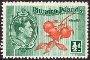 Pitcairn Islands 1 - Mint-NH - 1/2p Oranges / George VI (1940) (cv $0.75)
