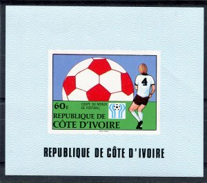 Ivory Coast 1985 FOOTBALL WORLD CUP IYC Emblem Deluxe s/s Mint (NH)