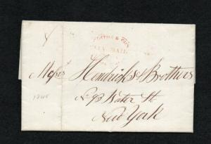 OVERTON CO. CITY MAIL FL - 1845 with contents (short business notice)