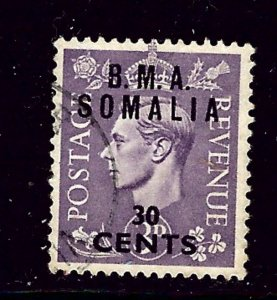 Great Britain-B.M.A. Somalia 14 Used 1948 overprinted issue