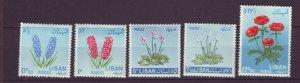 J24046 JLstamps 1964 lebanon part of set mh #418-9,421-2,424 flowers,