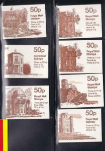 GB BK # 235-237 VF-MNH  7 DIFFERENT COVERS BOOKLETS PO FRESH CAT VALUE $34+