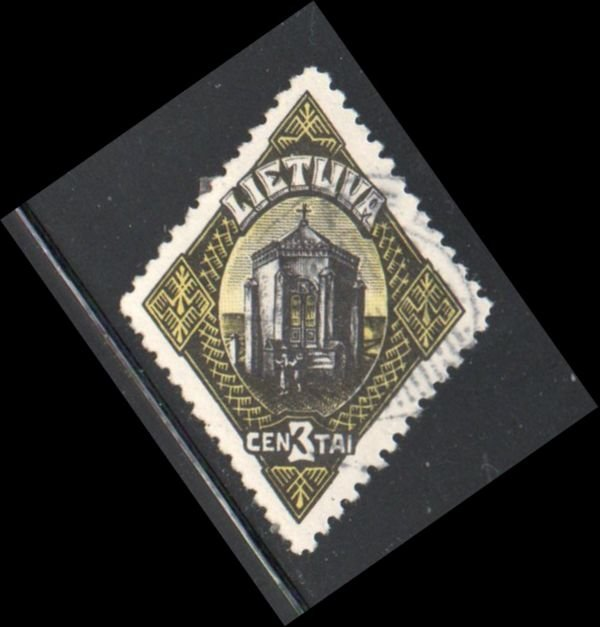 Lithuania Sc 178 1923 3 c Biruta Chapel stamp used
