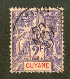 FRENCH GUIANA 50 USED SCV $16.00 BIN $7.00 ANGELS