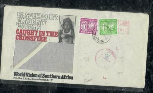 ZIMBABWE COVER (PP0301B)   INCOMING COVER FROM SA POSTAGE DUE 1C+5C