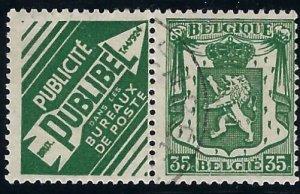 RK 102 Belgium with ad label  BIN $3.00