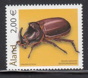 Aland 2006 MNH Scott #244 2E Oryctes nasicornis Insects