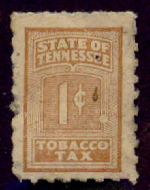 Tennessee State Revenue Stamp 1c Tobacco Tax # T50b