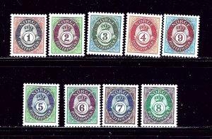 Norway 960-68 MNH 1991-92 Posthorns