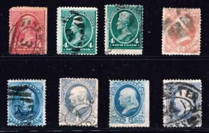 US STAMP # 19TH US OLD USED STAMP COLLECTION LOT