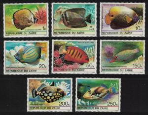 Zaire Tropical Fish 8v SG#1017-1024 SC#974-981