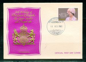 QUEEN MOTHER 80th BIRTHDAY LOT OF EIGHT 1980 FIRST DAY COVERS