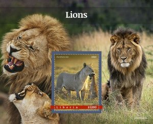 YEAR 2020/10- LIBERIA- LIONS        1V complet set    MNH ** T