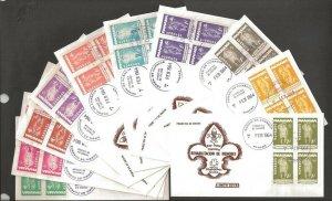 1964 Panama Boy & Girl Scouts blocks -10 Smith FDCs