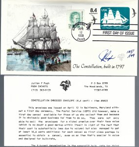 Regal Pugh Designed/Painted Constellation Embossed FDC...125th of 199 Created!