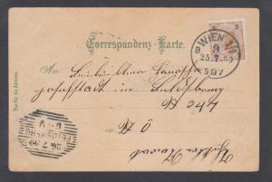 Austria Sc 52 on 1899 NORTH POLE color litho PPC by Karl Schwide, FELDSBERG