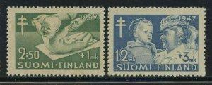Finland 1947 Infants Semi-postal set Sc# B82-86 NH