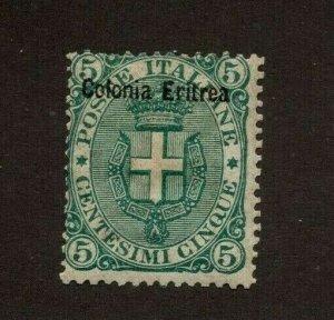 Eritrea Italy Africa Scott 3 Mint OG F Catalog $160
