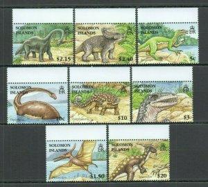 U0824 2006 SOLOMON ISLANDS FAUNA DINOSAURS #1305-12 MICHEL 12 EURO 1SET FIX