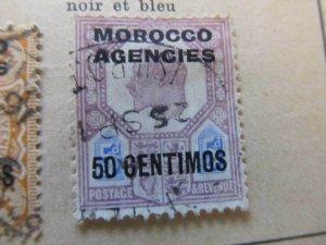 British Morocco 1907-10 50c on 5p fine used stamp A11P30F17