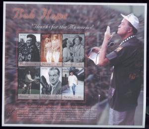 BOB HOPE Commemorative Mini Sheet MNH - Nevis E4