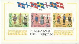 Faroe  Islands #101 Souvenir Sheet Costumes (MNH) CV$10.00