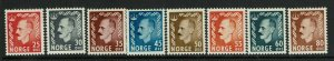 Norway SC# 310-317, Mint Hinged, Hinge Remnant - S9365