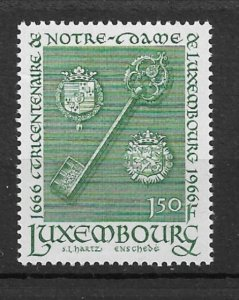 Luxembourg 1966 Gold key, decorated with the arms of Luxembourg City MNH**