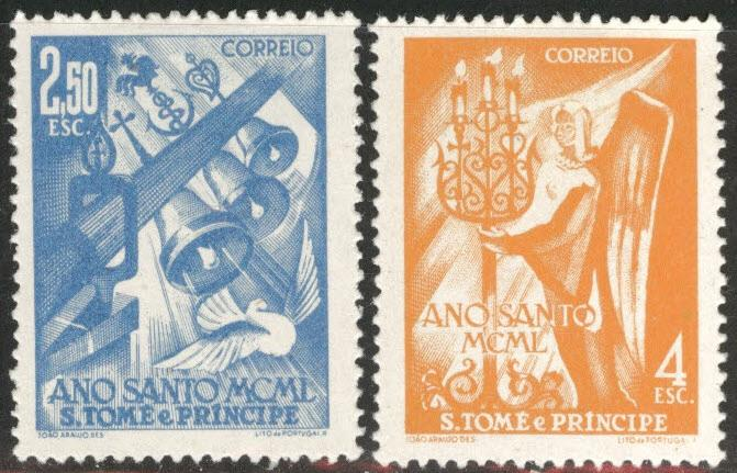 St. Thomas & Prince Islands  Scott 353-354 MH* Holy year set