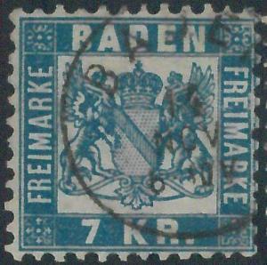 77947 -  GERMANY Baden -  STAMP:  Michel  #  29 -   USED very nice