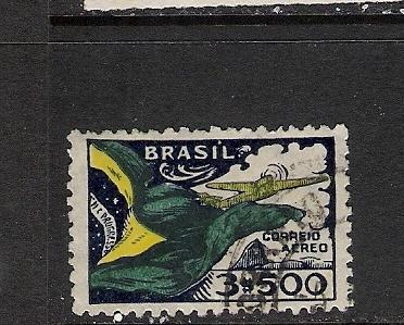 BRAZIL C31 VFU FLAG AIRPLANE 678B A