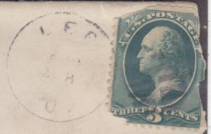 US Cover - D.P.O. ? - stamp is mangled -x30