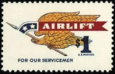 SCOTT # 1341  AIRLIFT MILITARY PARCEL 1 DOLLAR  SINGLE BEAUTIFUL GEM  !!