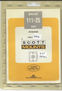 SCOTT MOUNT 985B, 111 MM X 25 MM, NEW/UNOPENED, RETAIL $6.25