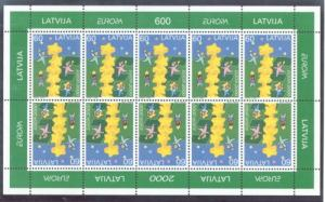 Latvia Sc 504 2000 Europa stamp sheet mint NH