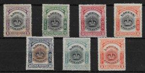 LABUAN SG117a/28a 1902-3 DEFINITIVE SET OF 7 p14-15 MTD MINT
